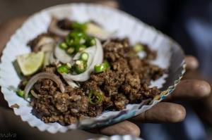 Sutli kabab on plate