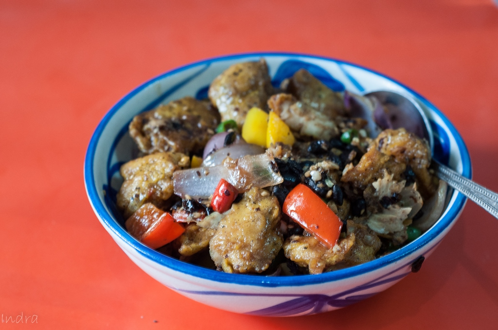 Fish with chilly black bean