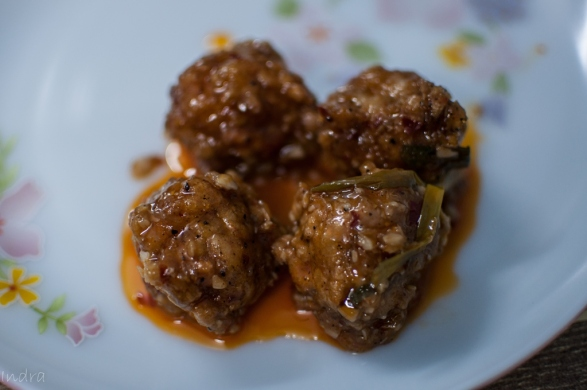Prawn ball with Hamei sauce