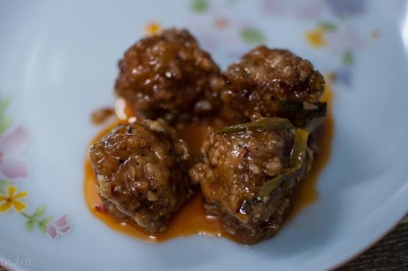Prawn ball with Hamei sauce