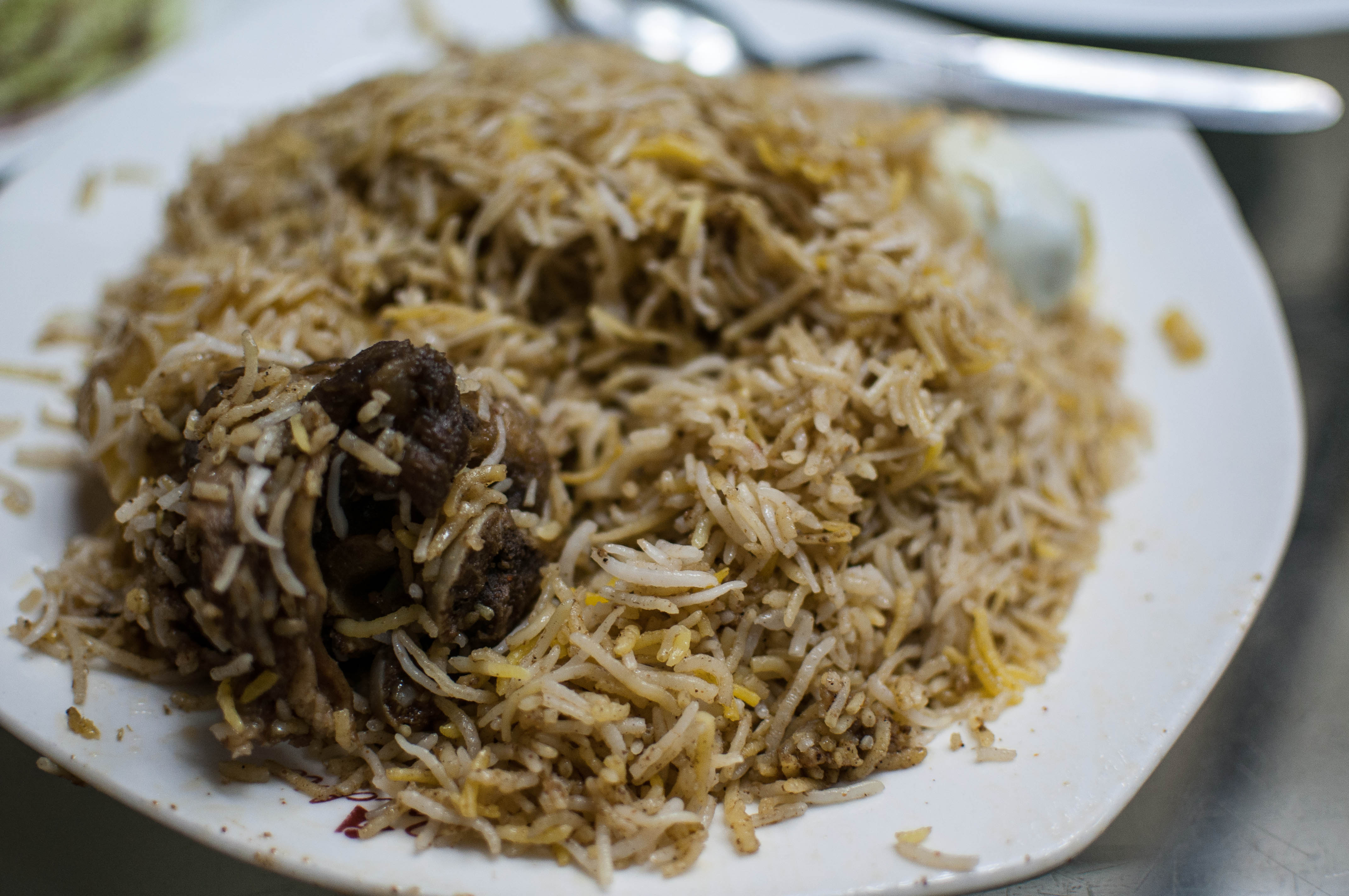 India hotel- special mutton biryani