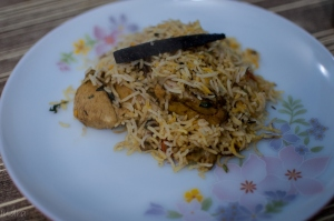 Tamarind- mutton hyderabadi biryani