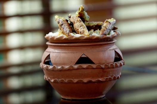 Chilli Makai Sheekh Kabab