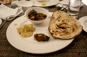 Mutton nihari, dry-fruit stuffed paneer and naan