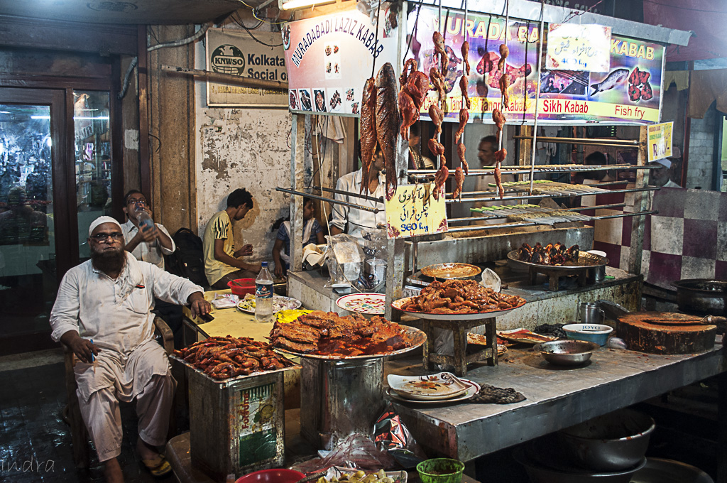 The roadside other kebab stall...