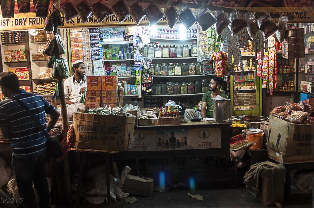 The nameless masala shop opposite to Haji Allauddin Sweets