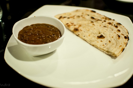 Kali daal and naan