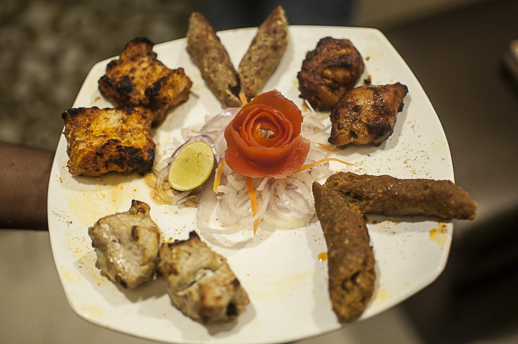 Non-veg kebab platter