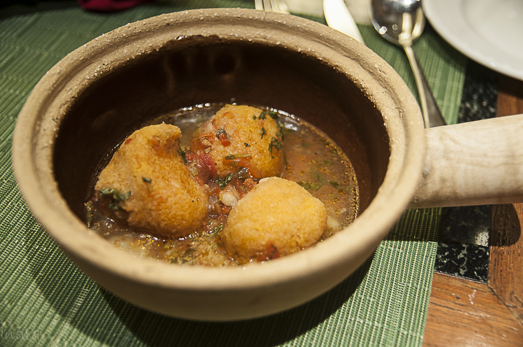 Musoor lentil dumplings in sour gravy