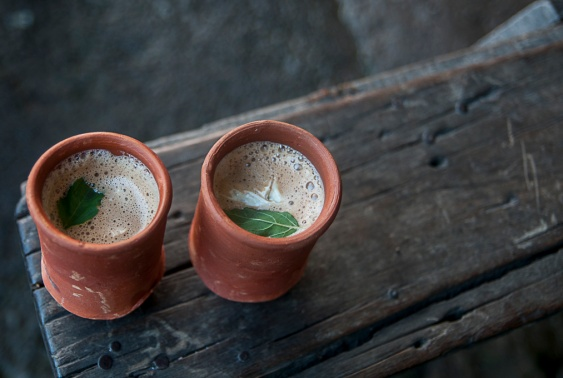 Gulabi chai with malai