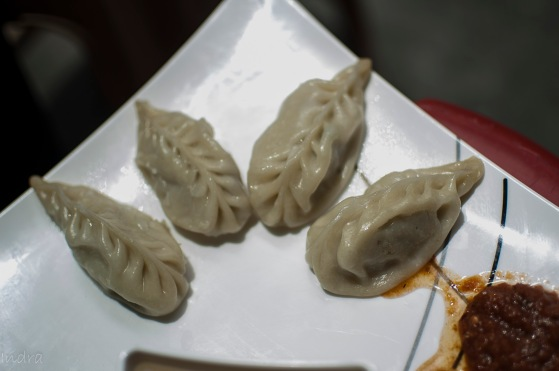 Fish steamed momo