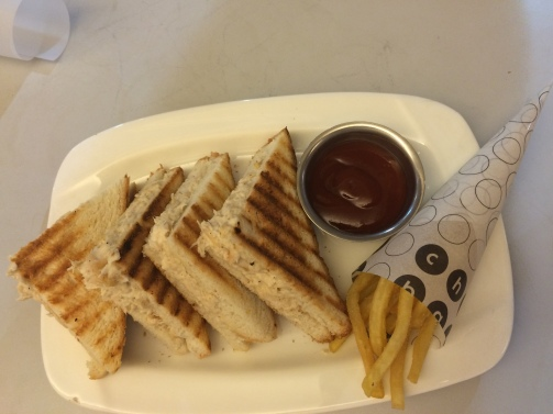 Roast chicken and mayo sandwich